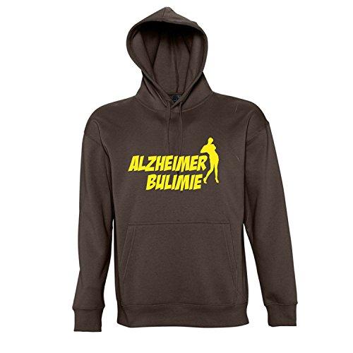 ALZHEIMER BULIMIE - Kapuzen Sweatshirt - Pullover S-XXL , Chocolate - gelb , L