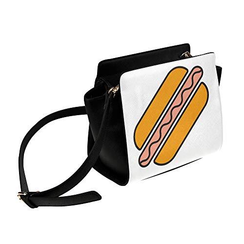 Rtosd Tasche frauen reisen lecker hot dog american fast food umhängetasche umhängetaschen reisetaschen seesack umhängetaschen gepäck für dame mädchen frauen strandtasche umhängetasche