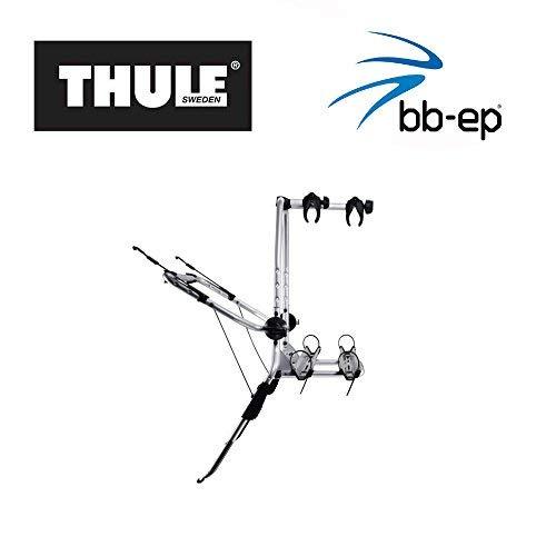 Einfacher Thule Heck-Fahrradträger 90505132 zum Transport von 2 Rädern auf der Heckklappe – passend für OPEL Corsa (D)