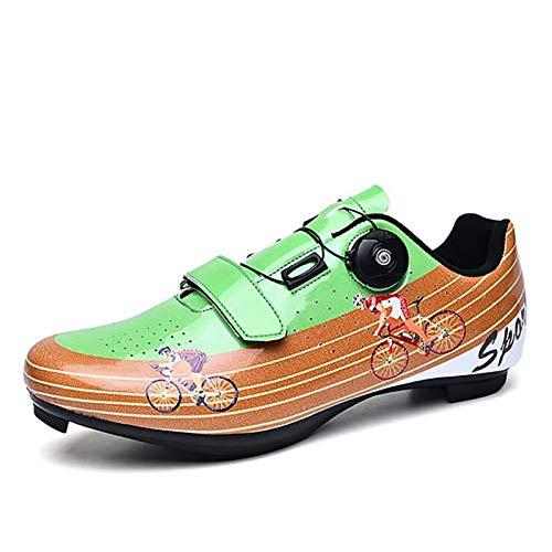 WDZJM Zapatillas de Ciclismo, Zapatillas de Bicicleta de montaña Informales con Asistencia...
