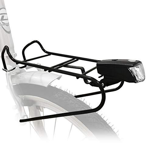S.T.S. Portacesto Anteriore con fanale per Bicicletta da 26'' - 28'' Portapacchi per City Bike