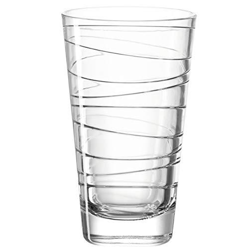 Leonardo Vario Struttura 019450 - Set di 6 bicchieri per acqua, lavabili in lavastoviglie, con motivo, 280 ml
