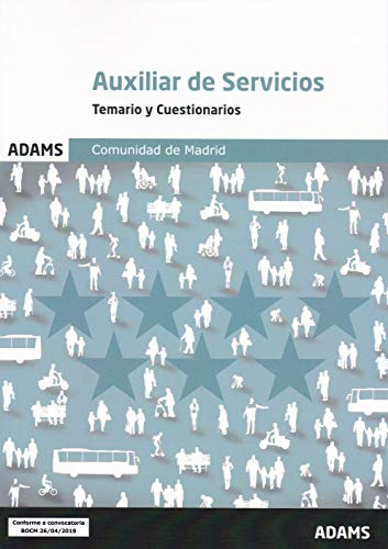 Temario y Cuestionarios Auxiliar de Servicios Comunidad de Madrid