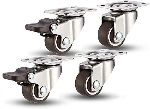 Ruedas giratorias de alta resistencia para ruedas Niture Wheel Trolley ruedas pequeñas con frenos capacidad de carga 25 kg cada uno - 50 mm