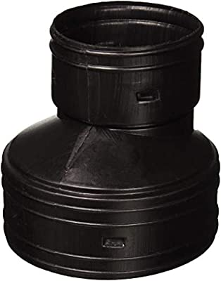 """ADS (Advanced Drainage Systems) 0614AA Reducing Coupler, 6"""" x 4"""", Black"""