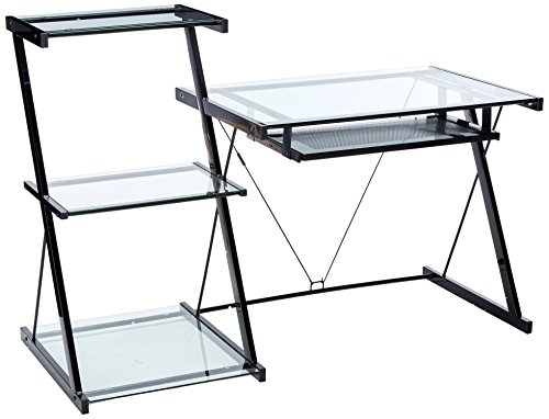 Z-Line Designs Z-Line Nero Desk and Bookcase, Black