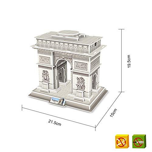 Puzzle 3D Arco de Triunfo de París - 40 Piezas - Tamaño montado: 21 x 15 x 19 cms