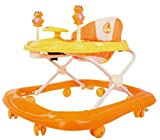 BAYBEE Smart Witty Plastic Round Baby Walker with Adjustable Height and Musical Toy Bar Rattles and...