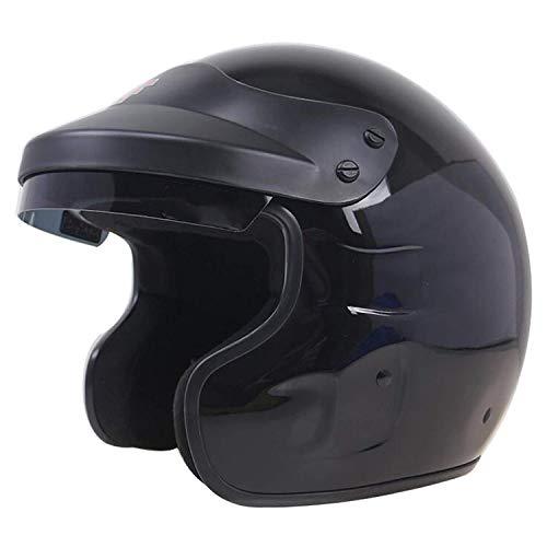 WGFGXQ FRP Faser Motorradhelm, Auto Profi Rennhelm Rallye Wettkampf Leichtathletik Helm Snell SA2010 / DOT/ECE Zertifizierung, XL