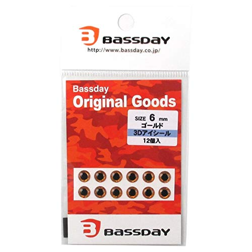 Bassday(バスデイ) 3Dアイシール ゴールド 6mm