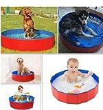 L.J.JZDY Schwimmbad 30x10cm Pool Welpen-Haustier im Freien beweglichen Faltbarer PVC Badewanne Baby-Haustier-Pool Supplies (Color : Blau, Size : 1)