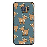 Cute Goat Case for Samsung Galaxy S6 Edge with Shock Absorption Flexible Protective Cover Black