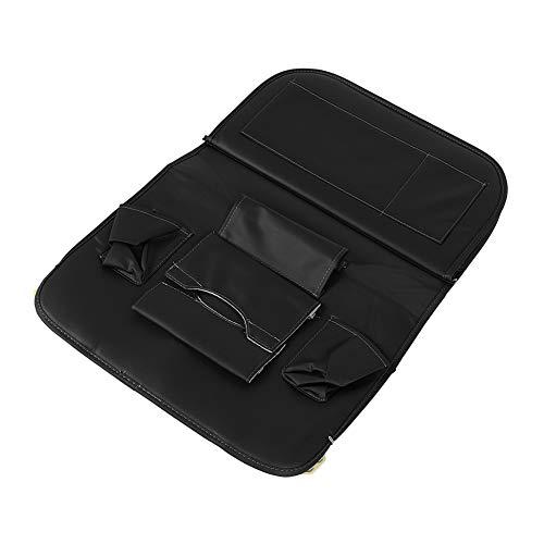 Hlyjoon 2 pezzi seggiolino auto posteriore organizzatore cuoio dell\'unità di elaborazione multifunzionale sacchetto di immagazzinaggio vassoio vassoio scatola nera accessorio adatto per nero universal