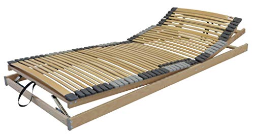 BELARO Lattenrost Multiflex KRF 140x200 cm || Komfortable Unterfederung - besonders geeignet für Seitenschläfer - manuelle Kopf-/Rücken und Fußteilverstellung