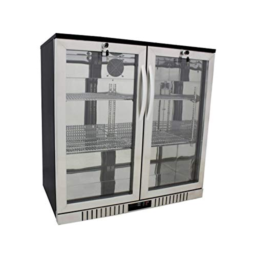 """Procool Refrigeration 2-door Glass Front Stainless Steel Back Bar Cooler; 36"""" Wide, Counter Height Refrigerator"""