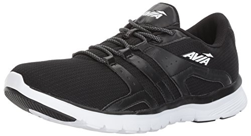 Avia Men's Avi-Mania Running Shoe, Black/White, 13 M US