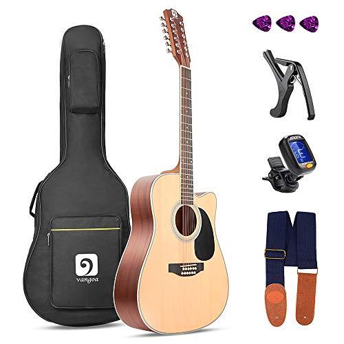 Vangoa 4/4 Guitarra Acústica de 12 Cuerdas 41 pulgadas con