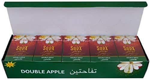 10 Doppel-Apfel-Packungen von Soex Shisha Geschmacksrichtungen Nagirla Geschmack, toller Rauchgeschmack Melasse – [10 Boxen x 50 g] ITK_Trade
