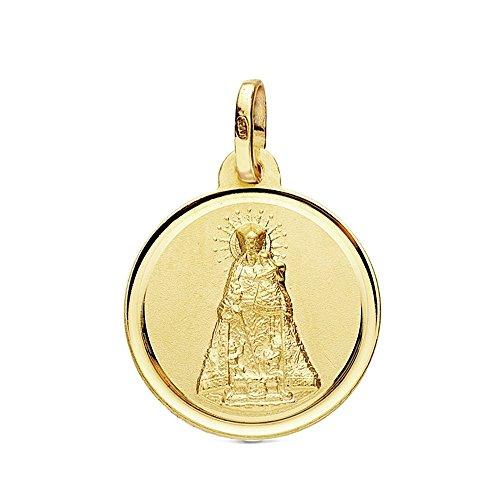 Medalla Oro 18K Virgen Desamparados 18mm. [Ab3369Gr] - Personalizable - Grabación Incluida En El Precio