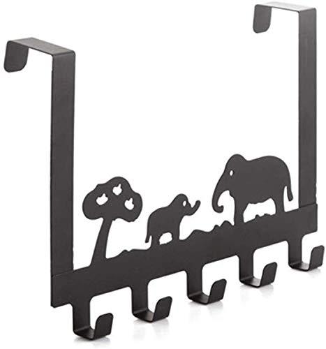 YANGSANJIN Iron Art Hook Up nadat de deur kleerhangers creatief no trace kledinghaken wandmontage kledinghaken multifunctionele kledinghaken badkamer keuken hoge capaciteit hookup (maat: 30 cm)