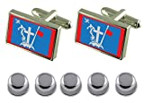 Select Gifts Shirt Dress Studs Hydra City Greece Flag Cufflinks