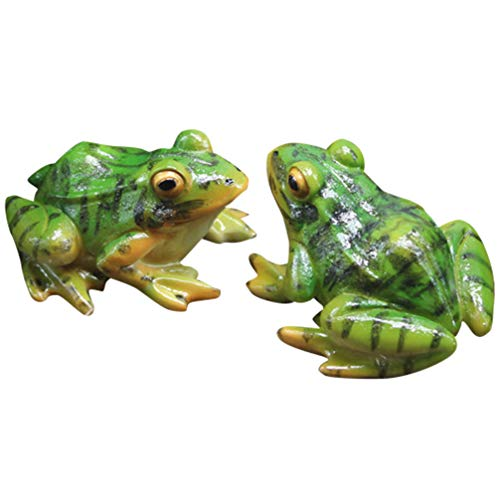 WINOMO Frog Statue Mini Animal Sculpture Indoor Outdoor Decor for Garden Patio Yard Micro Fairy Garden Ornaments
