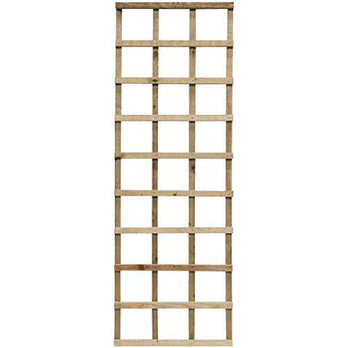 Rowlinson Pressure Treated 6 x 2ft Heavy Duty Trellis Pack of 3 - Self Assembly