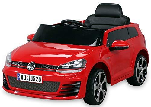 Actionbikes Motors Kinder Elektroauto VW Golf GTI Original Lizenz Kinderauto Kinderfahrzeug Elektro Auto Spielzeug Für Kinder (Rot)