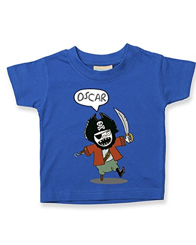 Ice-Tees T-shirt personnalisé pour bébé/enfant Motif pirate - Bleu - 2-3 ans