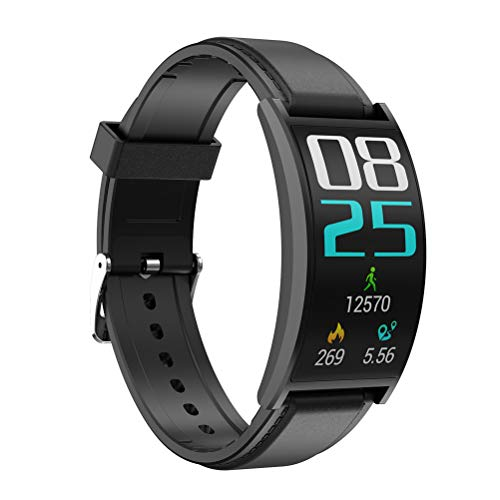 Excras T20 Business Smartwatch, 72° Gebogenes Display 1,5 Zoll HD Display, IP67 Wasserdicht mit Blutdruck Fitness Tracker, Herzfrequenzmesser Wetter Uhr für iOS/Android