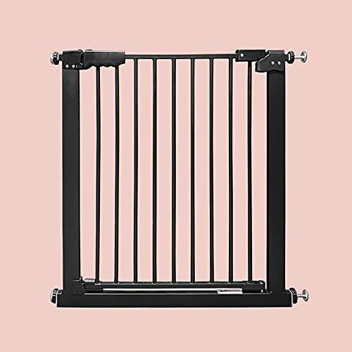Baby Gate for Doorways and Stairs, Safety Gate Metal Expandable Baby Pet Safety Gate Auto-Close with Pressure Mount, 77 To 166.9 cm(Size:77-86.9cm)