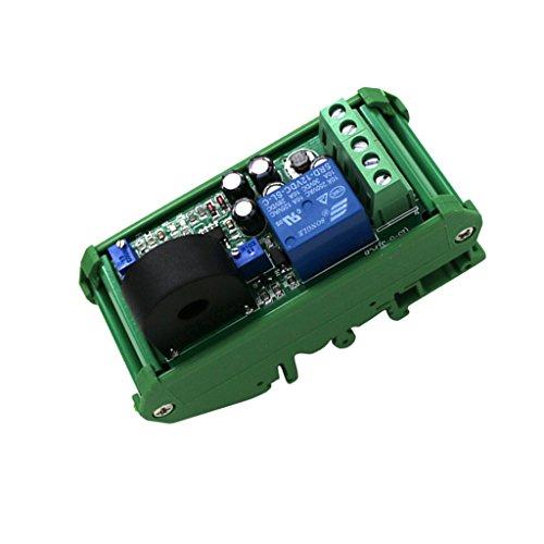 joyMerit Módulo de Detección de Sensor de Corriente CA, Rango 0-20A, Salida de Interruptor de Revestimiento Ajustable, Protección Contra Sobrecorriente con Bas