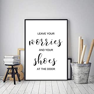 Rainbow Store Printable Remove Your Shoes Sign, Take Shoes Off Print, Entryway Wall Decor, Shoes Off Please, Housewarming Gift, Black