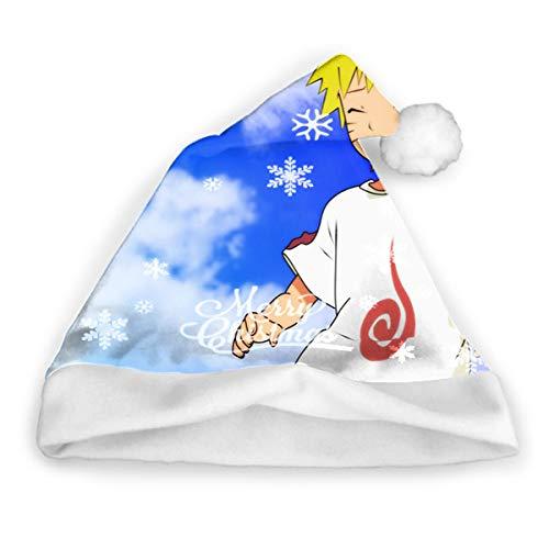 Sdltkhy Naruto () Feliz Navidad Lindo Papá Noel Divertido Sombrero de Fiesta Sombreros de Vacaciones Sombrero de Papá Noel Regalos para Adultos Unisex