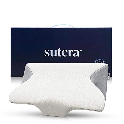 SUTERA Dream Deep Memory Foam Pillow for Sleeping, Cervical Pillow That relieves Neck, Back, Hip, & Joint Pain, Bed Pillow, Side Sleepers Pillows, Orthopedic Contour Pillows w/ Washable Cover