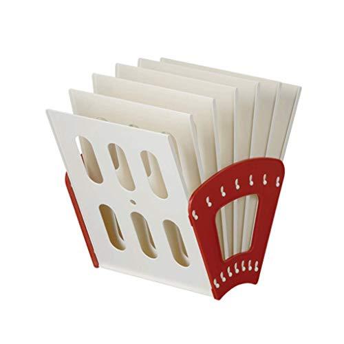 MILAYA JI Bin Shop® Ordner-Multi-Layer-Büro Schreibtisch Datenverwaltung Rack Einfach Buchständer Zeitschriftenständer * (Farbe : 4#)