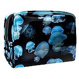 Kit de Maquillaje Medusa Azul Neceser Makeup Bolso de Cosméticos Portable Organizador Maletín para Maquillaje Maleta de Makeup Profesional 18.5x7.5x13cm