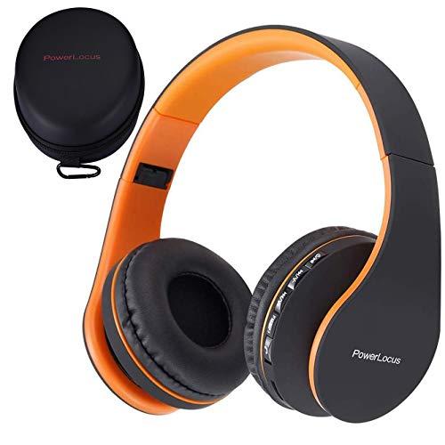 PowerLocus P1 Bluetooth Kopfhörer Kabellos, Wireless 5.0 Bluetooth Kopfhörer Over-Ear, Over Ear Kopfhörer mit mikrofon, Verbesserte Stereo Bass-Sound, Faltbare Kopfhörer für iPhone,Android,PC,iPad,TV