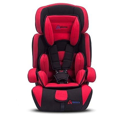 MVDWWH Seguro y cómodo Asiento de Seguridad para bebés, Asiento de Seguridad para bebé, Asiento de Seguridad para bebé, 9 Meses, 12 años Una Cuna cómoda para el bebé. (Color : Red)