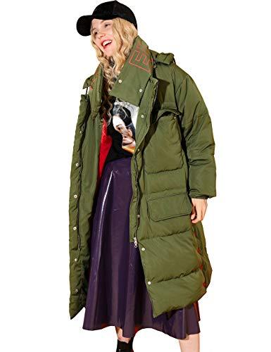 Elf zak dames donsjas winterjas donsjas parka met capuchon parka lang licht donsjack hooded down coat
