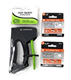 Surebonder 5525 Plastic Light Duty Stapler Bundle with No. 3 Light Duty 1/4 inches Leg Length 55114 and 5/16 inches Leg Length 55116, 0.441 inches Crown Staples, Arrow JT21 Type, 1000 Count Each