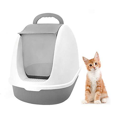 PETVE Kat benodigdheden - Kat Toilet Training Set, Voorklem Kat Zand Basin, Volledig Gesloten + Deodorant + Grote Ruimte, Geschikt voor Katten onder 10Kg