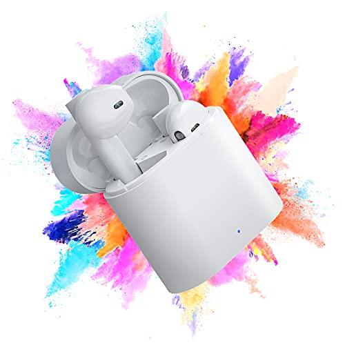 Casque Bluetooth 5.0 Écouteurs sans Fil Intra-Auriculaires sans Fil Hi-FI Stéréo Écouteurs Anti-Transpiration Casques de Sport Micro intégré pour Le Travail/la Course/Les Voyages/la Gym
