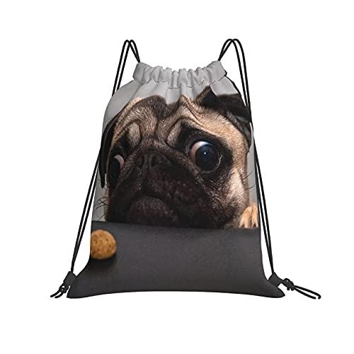 XXHGH0S Drawstring Bag Lovely Dog Beside Black Sofa Drawstring Backpack Bag Anime Unique Design Sport Gym Sackpack
