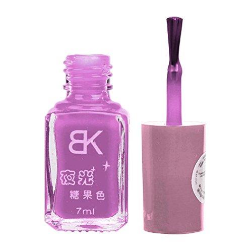 Zarupeng 20 Farben Leuchtender Nagellack, Glitter Fluorescent Neon Luminous Gel Nagellack für Glow in Dark (One Size, I)
