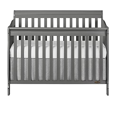 Dream On Me Ashton 5-in-1 Convertible Crib in Storm Grey, Greenguard Gold Certified