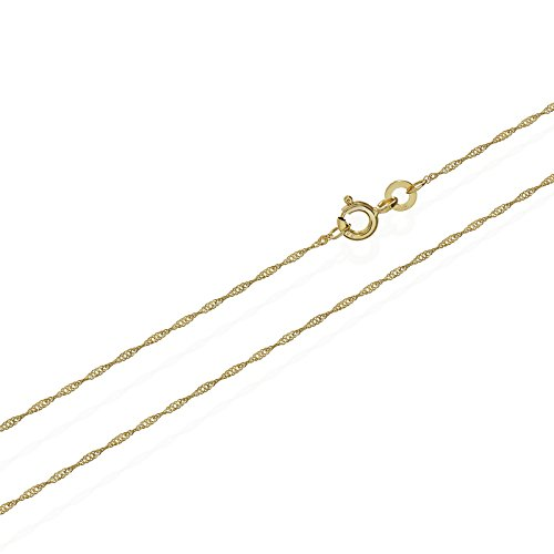 NKlaus Singapur 333er Gold Kette gedreht 3724, 50 cm lang, 0,85 gr. 1,0 mm Breit