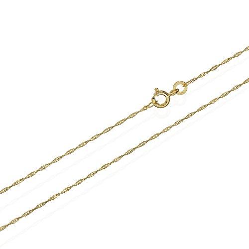 NKlaus Singapur 333er Gold Kette gedreht 3724, 42 cm lang, 0,73 gr. 1,0 mm Breit