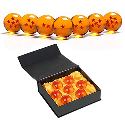 HELOU Exquisito Unisex Estrellas Acrílico Transparente Play Balls Crystal Dragon Ball 7pcs Set 4.3cm con Caja de Regalo