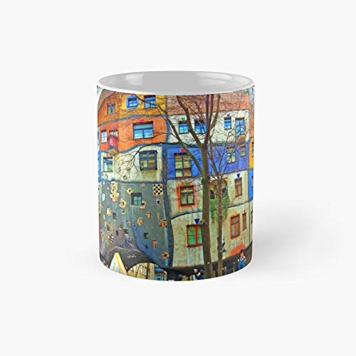 Hundertwasser House Vienna Classic Mug Best Gift Funny Coffee Mugs 11 Oz